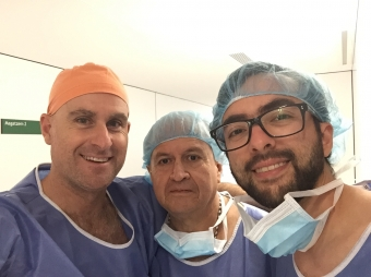 Dr. Oscar Vidal and Dr. Diaz del Gobbo with Professor Herrera