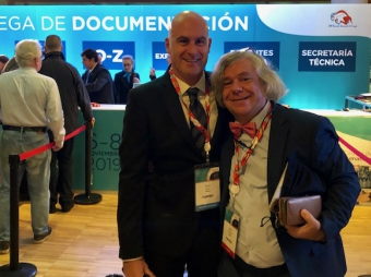 DR OSCAR VIDAL and DR. DIETER MORALES president of the NATIONAL MEETING ON SURGERY