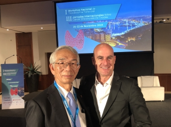 Dr. Oscar Vidal (Hospital Clinic of Barcelona) and Dr. Miyauchi (Kuma Hospital, Japan)