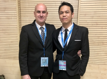 Dr. Oscar Vidal (Hospital Clinic of Barcelona) and Dr. Sasanakietkul (Police Hospital, Bangkok)